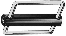 Schnalle mit bewegl. Aluminium-Steg für 50mm